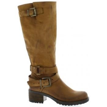 Chaussures Femme Bottes ville Pao Bottes cuir nubuck Cognac