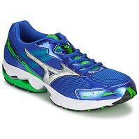 Chaussures Homme Running / trail Mizuno WAVE LEGEND 2 Bleu / Argent / Vert