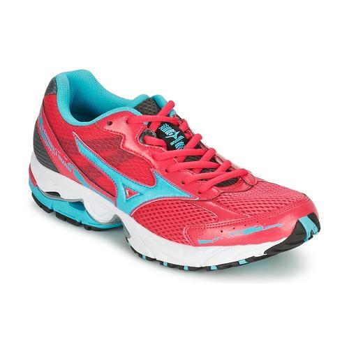 Mizuno WAVE LEGEND 2 Rouge / Bleu - Chaussures Chaussures-de-running Femme