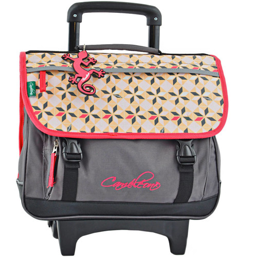 Sacs Enfant Sacs / Cartables à roulettes Cameleon Cartable à roulettes 2 compartiments NEW BASIC 18A-NBACA38R DIAMOND PINK