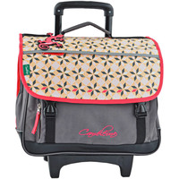 Sacs Enfant Sacs / Cartables à roulettes Cameleon Cartable à roulettes 3 compartiments NEW BASIC 18A-NBACA41R DIAMOND PINK