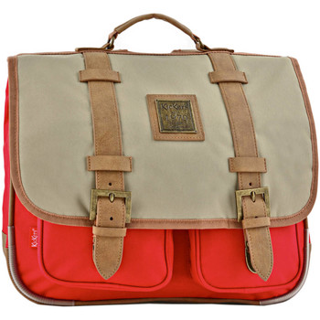 Sacs Enfant Cartables Kickers Cartable 2 compartiments PREFERENCE 44A-701130PF ROUGE BEIGE
