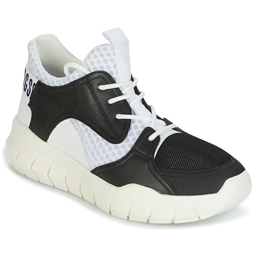 Bikkembergs FIGHTER 2022 LEATHER Noir / Blanc  - Chaussures Baskets basses Homme