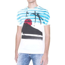 Vêtements Homme T-shirts manches courtes Antony Morato MMKS00976 FA100064 T-shirt Man Bianco Bianco