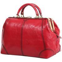 Sacs Femme Sacs de voyage Katana Sac diligence cuir de Vachette collet K 1152 Rouge