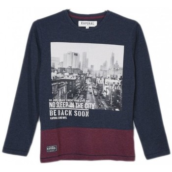 Vêtements Garçon T-shirts manches longues Kaporal T-Shirt Manches Longues Garçon Nusty Bleu Imprimé Bleu