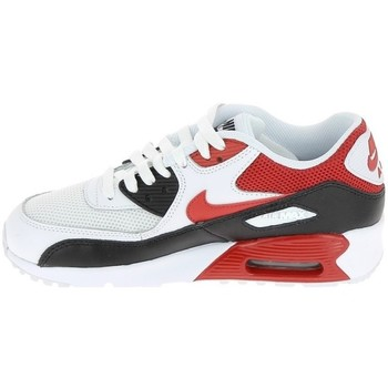 Chaussures Garçon Baskets basses Nike Air Max 90 Mesh Junior - Ref. 833418-107 Blanc