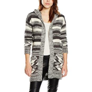 Vêtements Femme Gilets / Cardigans Tommy Hilfiger CARDIGAN DW0DW01024 Gris / Blanc