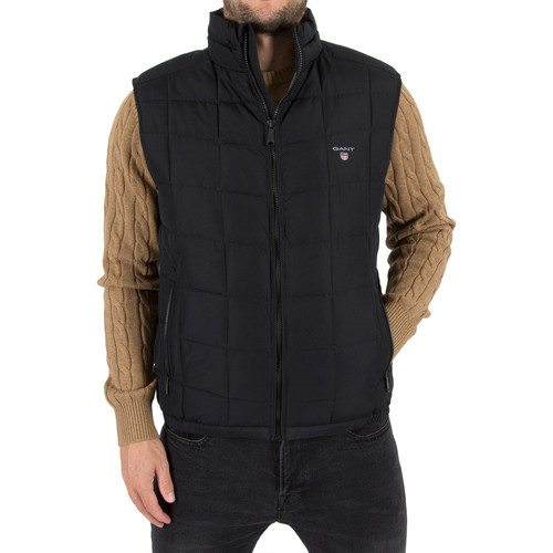 Vêtements Homme Gilets / Cardigans Gant Homme The Lightweight Cloud Logo Gilet, Noir noir
