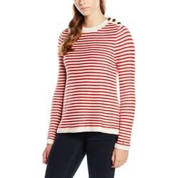 Vêtements Femme Pulls Tommy Hilfiger PULL DW0DW00975 Blanc/Rouge