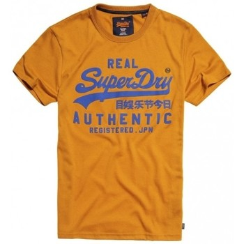 Vêtements Homme T-shirts manches courtes Superdry T-shirt  Vintage Authentic Grit Warm Gold Orange