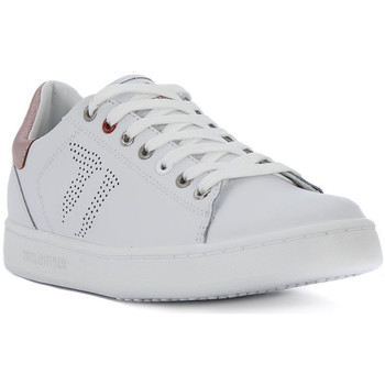 Chaussures Femme Baskets basses Trussardi LEATHER SAFFIANO Bianco