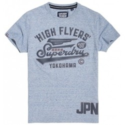 Vêtements Homme T-shirts manches courtes Superdry T-shirt  High Flyers Reworked Glacier Blue Bleu