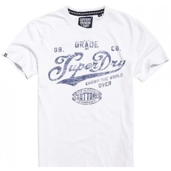 Vêtements Homme T-shirts manches courtes Superdry T-shirt  Grade A Tee Optic Blanc