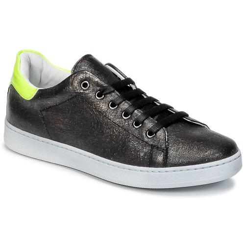 Chaussures Enfant Baskets basses Young Elegant People EDEN Noir / Jaune fluo