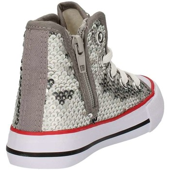 Chaussures Fille Baskets montantes Asso 53611 ARGENT