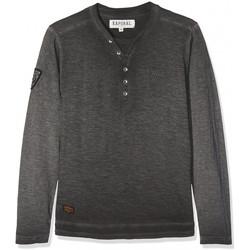 Vêtements Garçon T-shirts manches longues Kaporal Tee-Shirt Nasko Noir Noir