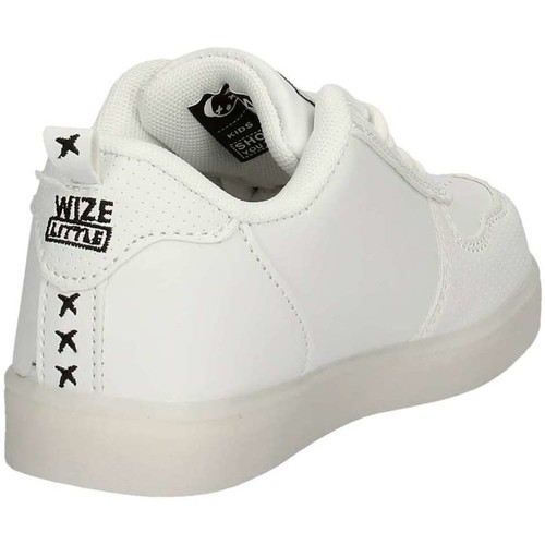 Chaussures Fille Baskets basses Wize & Ope 041 Sneakers Enfant Blanc Blanc