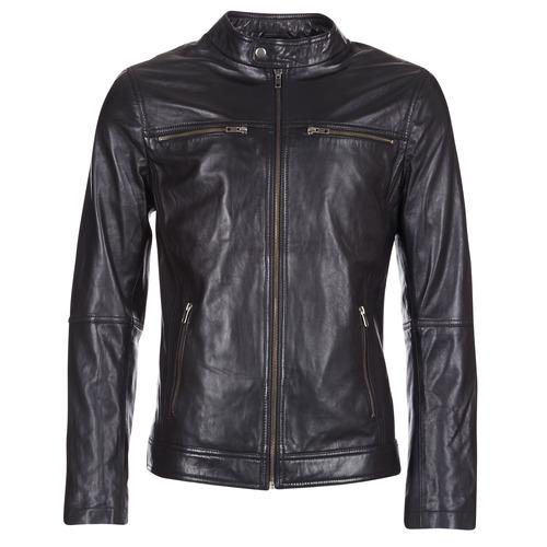 Vêtements Homme Vestes en cuir / synthétiques Casual Attitude IHEXO Noir