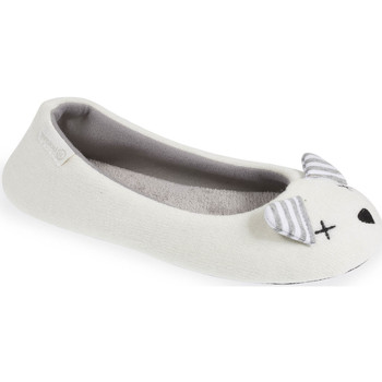 Chaussures Femme Chaussons Isotoner Chaussons ballerines souris femme blanc