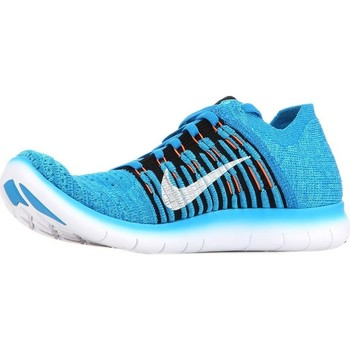 Chaussures Enfant Baskets basses Nike Free RN Flyknit GS Bleu