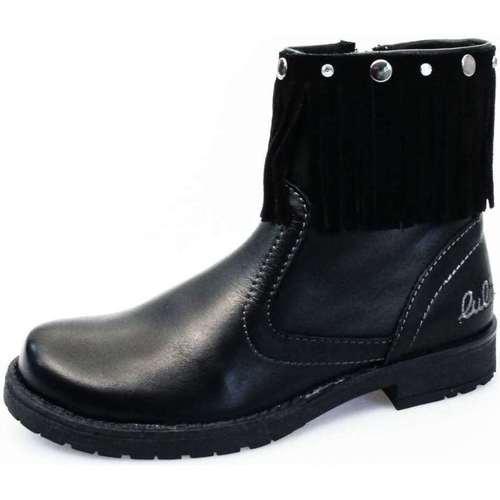 Chaussures Fille Bottines Lulu LL100007L Noir