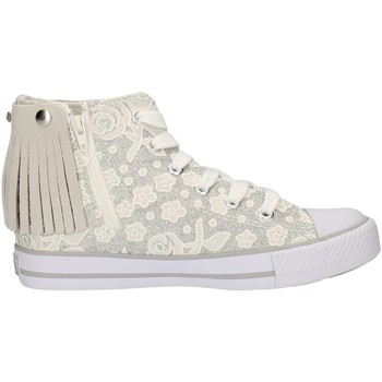 Chaussures Fille Baskets montantes Lulu LV010072S BLANC