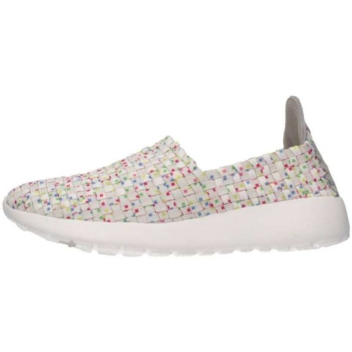 Chaussures Fille Slip ons Dude 130029910K0 Blanc