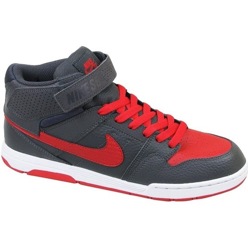 Chaussures Enfant Baskets montantes Nike Mogan Mid 2 JR B Graphite,Rouge