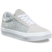 Chaussures Fille Baskets basses Vans Chaussures  Y Old Skool - Metallic Silver Gris