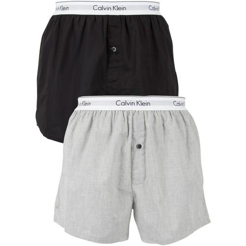 Vêtements Homme Boxers / Caleçons Calvin Klein Jeans Homme 2 Pack Logo Slim Fit Boxers, Multicolore multicolore