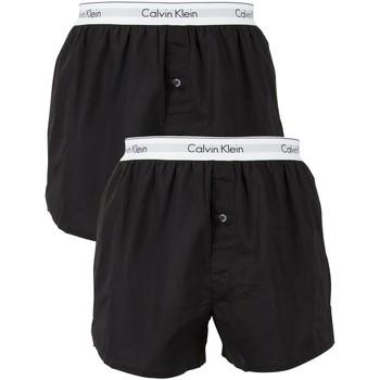 Boxers / caleçons calvin klein jeans homme 2 pack logo slim fit boxers, noir