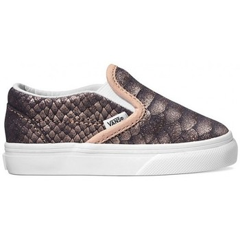 Chaussures Fille Slips on Vans Chaussures  T Classic Slip-On - Metallic Snake Gris