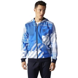 Vêtements Homme Sweats adidas Originals Originals Essentials Aop Rozpinana Z Kapturem Bleu