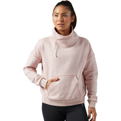 Vêtements Femme Sweats Reebok Sport Sweat Elements Marble Cowl Neck Pink