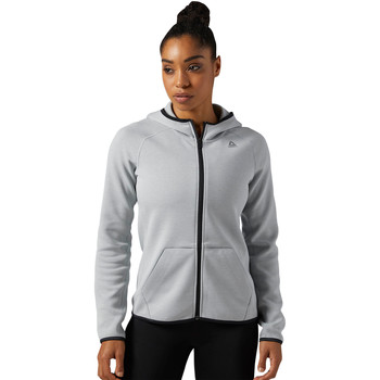 Vêtements Femme Polaires Reebok Sport Sweat à capuche zippé Quik Cotton Gris