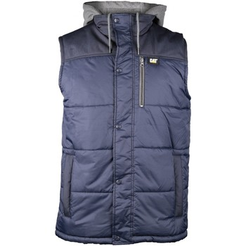Vêtements Homme Gilets / Cardigans Caterpillar Hooded Work Vest Blue