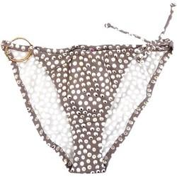 Vêtements Fille Maillots / Shorts de bain Princesse Ilou Slip de bain fille acidulé pois doré Gris