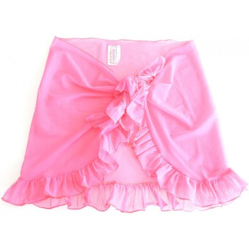 Vêtements Fille Jupes Princesse Ilou Paréo enfant rose en tulle à volant Rose