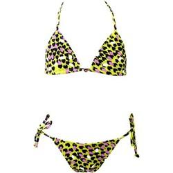 Vêtements Fille Maillots de bain 2 pièces Princesse Ilou Maillot de bain fille 2 pièces léopard avec bijou Multicolore