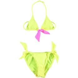 Vêtements Fille Maillots de bain 2 pièces Princesse Ilou Maillot de bain fille 2 pièces rose et jaune Fluo Jaune