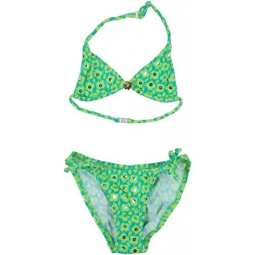 Vêtements Fille Maillots de bain 2 pièces Princesse Ilou Maillot de bain 2 pièces fleuri brillant et bijou Vert