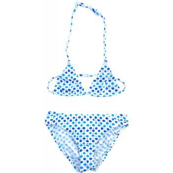 Vêtements Fille Maillots de bain 2 pièces Princesse Ilou Maillot de bain fille 2 pièces à pois et doré Bleu