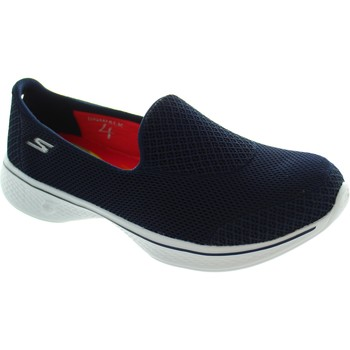 Chaussures Femme Slips on Skechers Go Walk 4 Propel Bleu
