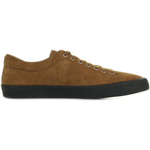 Chaussures Homme Baskets basses Fred Perry Underspin Suede Ginger Black marron