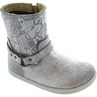 Chaussures Fille Bottines Bobux I-Walk Strap Boot argent