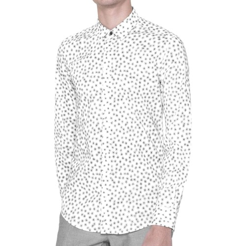 Vêtements Homme Chemises manches longues Antony Morato MMSL00384 FA430264 Chemise Man Blanc Blanc