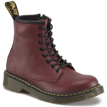 Chaussures Fille Bottines Dr Martens Bottines Delaney bordeaux rouge
