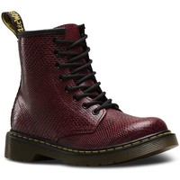 Chaussures Fille Bottines Dr Martens Bottines Delaney Viper bordeaux rouge