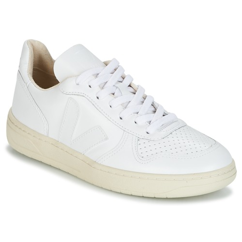 Veja V-10 Blanc  - Chaussures Baskets basses